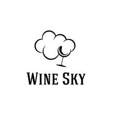 wine sky vector image vector image