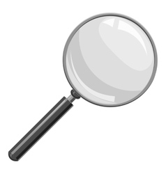 Magnifier icon gray monochrome style vector