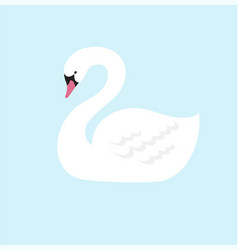 swan lake greeting card poster and vector image
