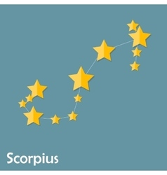 Scorpius zodiac sign of the beautiful bright stars vector