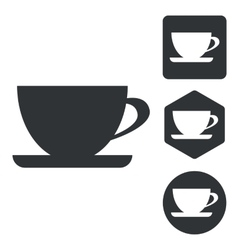 Cup icon set monochrome vector