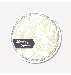 Sticker for package design with hand drawn spicy vector
