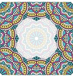 Oriental pattern with mandala vector