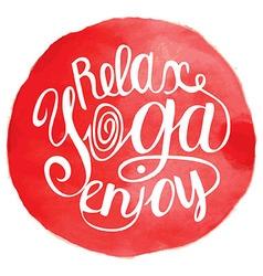 yoga Yog vector image