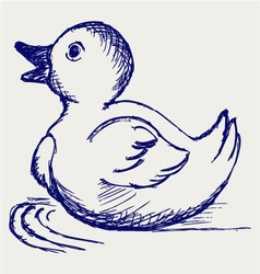 Nice small duckling vector image