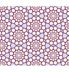 Abstract geometric seamless radial pattern vector image vector image