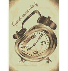 Alarm clock morning vector