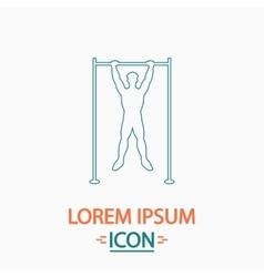 Athlete computer symbol vector