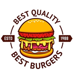 Best burgers Hamburger isolated on white vector image vector image