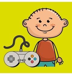 boy control game icon vector image