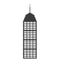 Buiilding facade high architecture antenna vector