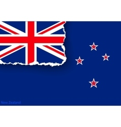 Design flag new zealand from torn papers with vector