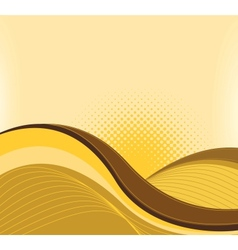 Drawing of abstract waves vector image