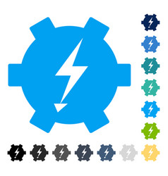 Electric power gear icon vector