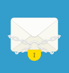 envelope with lock vector image vector image