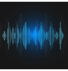 equalizer musical bar Dark background vector image vector image