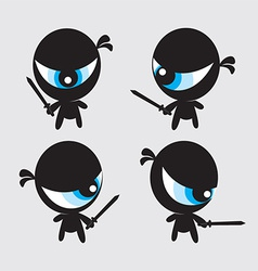 Eyeball ninjas vector