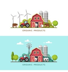 Farming farm fresh products vector
