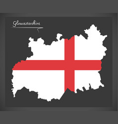 Gloucestershire map england uk with english vector
