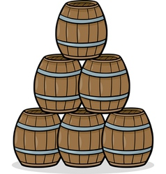 heap of barrels cartoon vector image