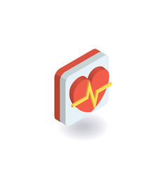 Heart palpitation icon vector