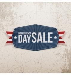 Independence day sale paper emblem vector