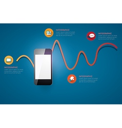 Infographic smart phone design icons text concept vector image vector image
