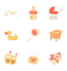 kid accessories icons set cartoon style vector image vector image