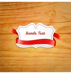 Label over wooden background vector image vector image