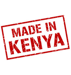 Made in kenya stamp vector