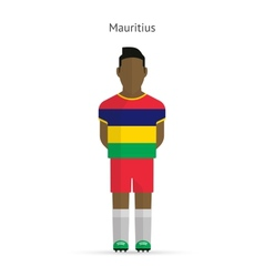 Mauritius football player soccer uniform vector