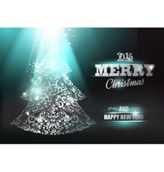 Merry Christmas and Happy New Year 2015 card vector image vector image