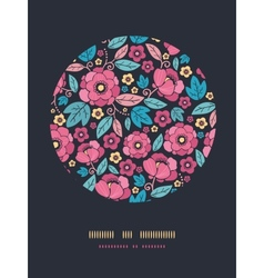 Night Kimono Blossom Circle Decor Pattern vector image