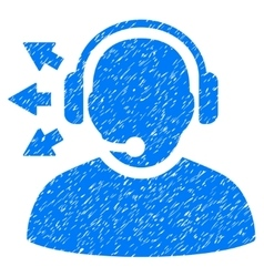 Operator answer speech grainy texture icon vector