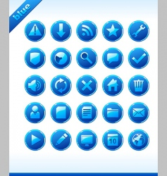 popular web icons in blue vector image vector image