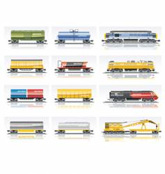 Railroad transportation set vector