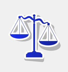 scales of justice sign new year bluish vector image