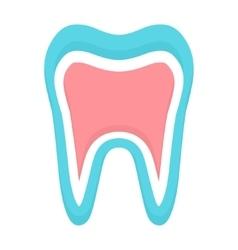 Tooth icon logo template Dental logo or vector image vector image