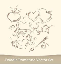 Valentine Doodles set isolated on white vector image