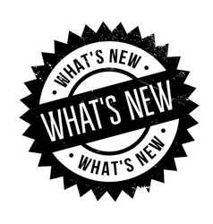 what s new rubber stamp vector image
