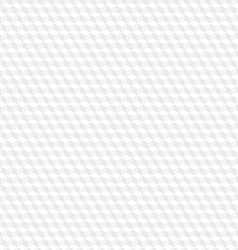White hexagon seamless background vector image