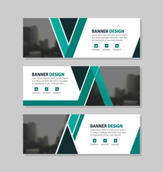 Green black abstract triangle corporate business vector