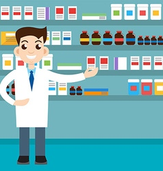 Male pharmacist vector