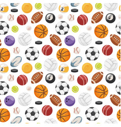 Set of balls isolated seamless pattern vector