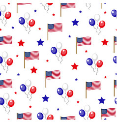 Independence day of america seamless pattern july vector
