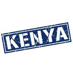 Kenya blue square stamp vector