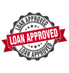 Loan approved stamp sign seal vector