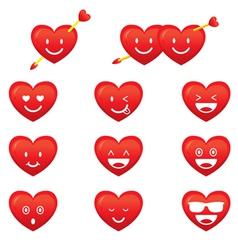 Hearts Emoticon Smiley vector image