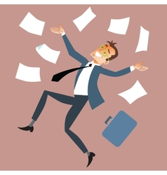 Businessman throws paper vector