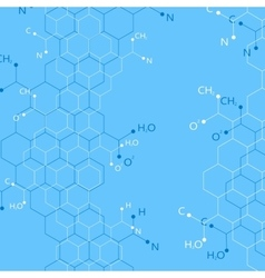 Structure molecule on blue background graphic vector